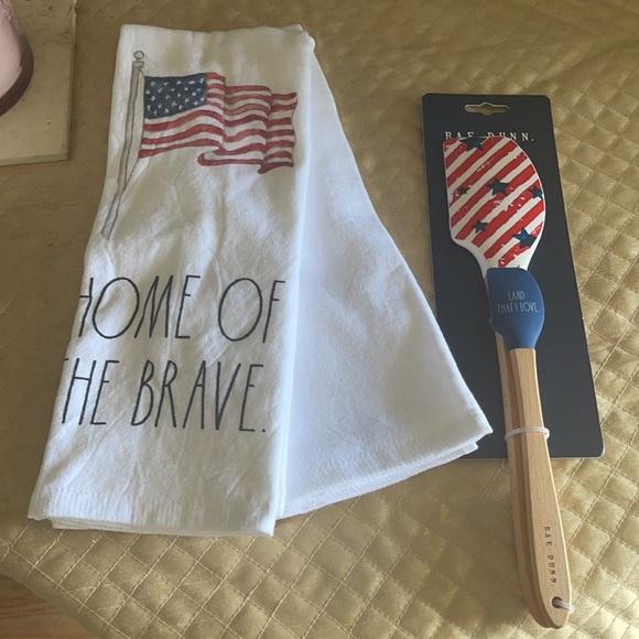 Two cute flag towel plus Spatula set